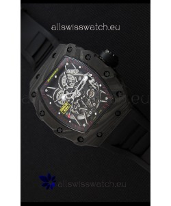 Richard Mille RM35-2 Rafael Nadal Forged Carbon Case with Black Rubber Strap