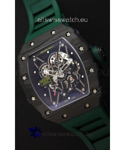 Richard Mille RM35-02 Rafael Nadal Forged Carbon Case with Green Strap