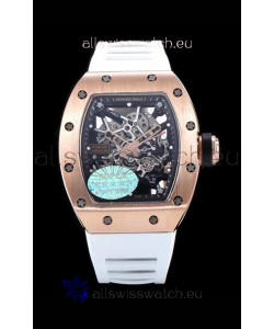 Richard Mille RM035 AMERICAS 18K Rose Gold Replica Watch in White Strap