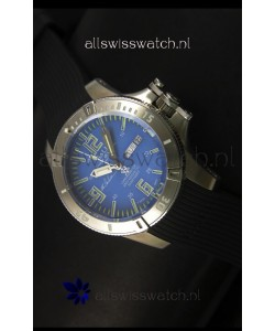 Ball Hydrocarbon Spacemaster Automatic Day Date Rubber Strap in Blue Dial - Original Citizen Movement