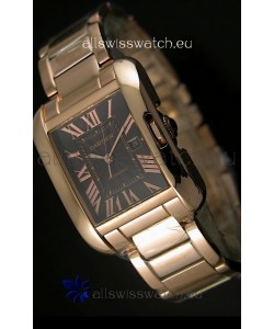 Cartier Tank Anglaise Mid Sized Swiss Watch Pink Gold - 1:1 Mirror Replica Watch