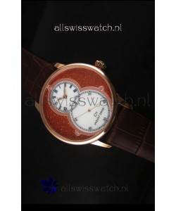 Jaquet Droz Grande Seconde Watch in Red Dial Rose Gold Case