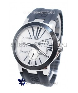 Ulysse Nardin Executive Dual Time Japanese Replica Watch in White Dial
