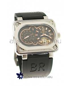 Bell and Ross BR Minuteur Tourbillon PVD Japanese Watch in Rose Gold Markers
