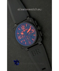 Bell and Ross BR01-94 7750 Swiss Watch in Red Markings