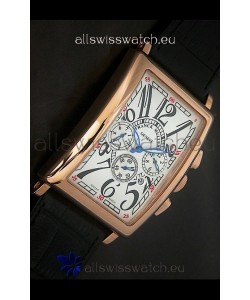 Franck Muller Long Island Japanese Replica Watch in White Dial