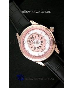 Montblanc Pure Mechanique Horlogere Swiss Replica Rose Gold Watch in Mop Pink Dial