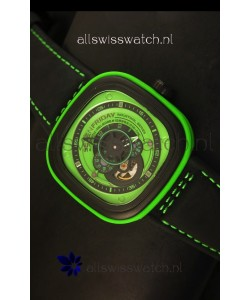 SevenFriday P-32 Black and Green with Original Miyota 82S7 Movement - 1:1 Mirror Quality