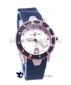 Ulysse Nardin Diver Pink Gold Watch in White Dial