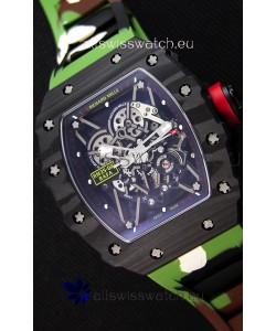 Richard Mille RM35-02 Rafael Nadal Forged Carbon Case with Camouflage Rubber Strap