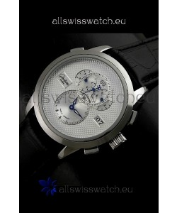 Glashuette ST. Steel Japanese Replica Watch in White Dial
