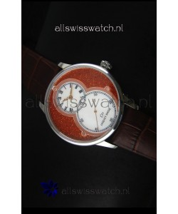 Jaquet Droz Grande Seconde Watch in Red Dial Stainless Steel Case