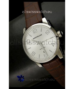 Mont Blanc Timewalker Swiss Automatic Watch in Silver Dial - Ultimate Mirror Replica