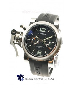Graham Chronofighter Oversize Diver Japanese Replica Watch in Black Dial