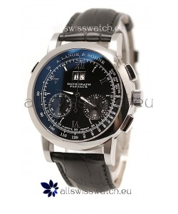 A. Lange & Sohne Datograph Flyback Swiss Replica Watch in Black Dial