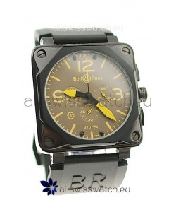 Bell and Ross BR01-94 Edition Japanese PVD Watch in Yellow Markers