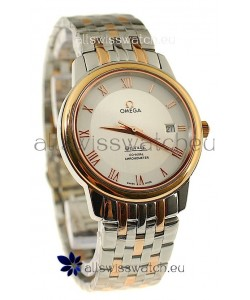 Omega Co-Axial Deville Japanese Rose Gold Watch in Roman Markers