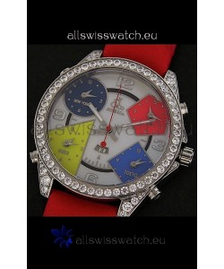 Five Time Zones Jacob&Co. Watch in Multicolour Dial