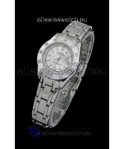 Rolex Datejust Ladies Japanese Replica Ladies Watch in Silver White Dial