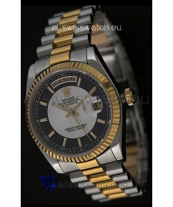 Rolex Day Date Just swissReplica Two Tone Gold Watch