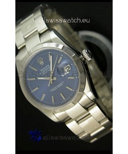 Rolex Replica Datejust Swiss Watch in Blue Dial with Stick Markers