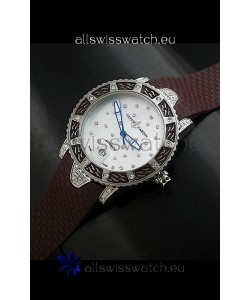 Ulysse Nardin Lady Diver White Starry Night Swiss Automatic Watch in Brown Strap